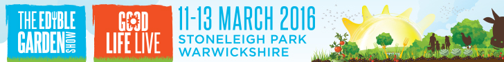 Edible Garden Show 2016: 11th - 13th March, Stoneleigh Park