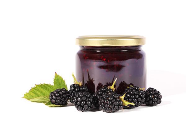 Pot of blackberry jam