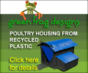 Green Frog Recycled Plastic Poultry Housing