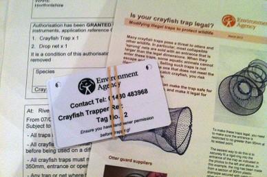 Crayfish licence
