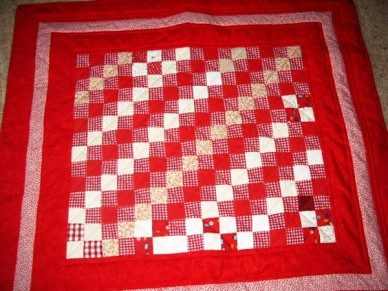 A crib quilt