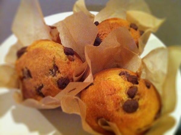 Chocolate and orange muffin