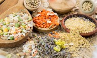 Wholegrains make up the majority of a macrobiotic diet