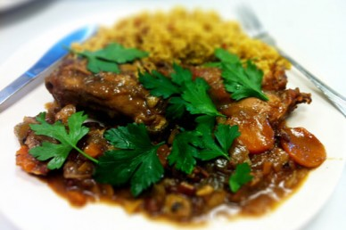 Moroccan Spiced Rabbit Stew