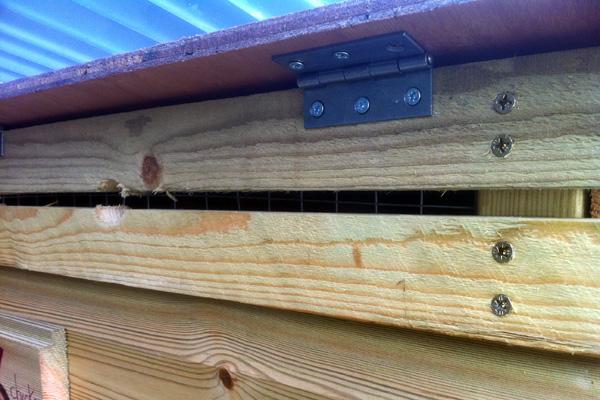 Front panel ventilation