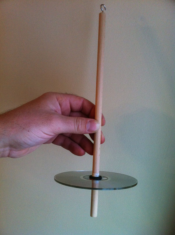The finished drop spindle