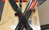 PVC pipe bow with arrows
