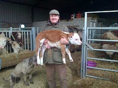 Malcolm Gough carrying Challenger